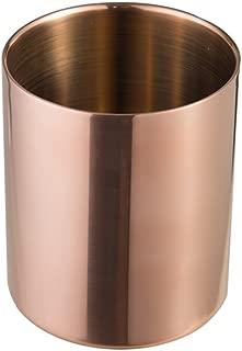 IMEEA Pencil Holder Pen Pot Makeup Brushes Holder Stationery Organizer Stainless Steel (Copper)