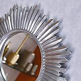 Espejo de pared redondo grande de 47 cm, espejo plateado, espejo redondo, espejo de pared, espejo vintage, regalo para ella