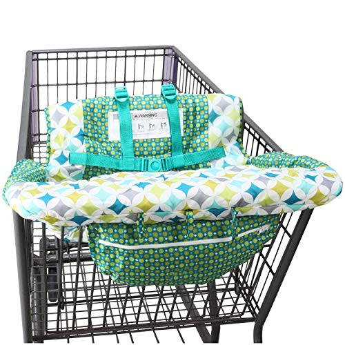 Shopping Cart Cover for Baby- 2-in-1 - Foldable Portable Seat with Bag for...