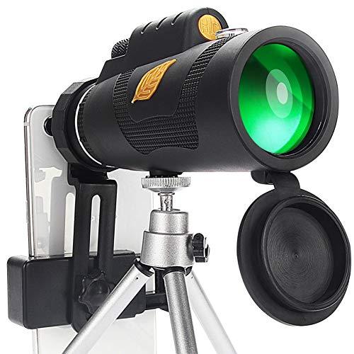 MKDASFD 12x50 Telescopio Potente Bolsa de telescopio monocular con Soporte para teléfono Inteligente Adecuado para Senderismo, Acampada, Turismo