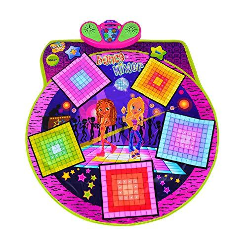 HOMCOM Tanzmatte Tanzschritt Spielmatte Musikmatte Rutschfest mit Musik Kinder Bunt 91×93cm