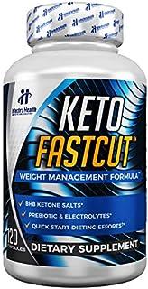 KETO FASTCUT® Powerful Keto Diet Pills to Cut Fat Fast - BHB Science Based Rapid Ketogenic Formula - 120 Blue Capsules Pre...