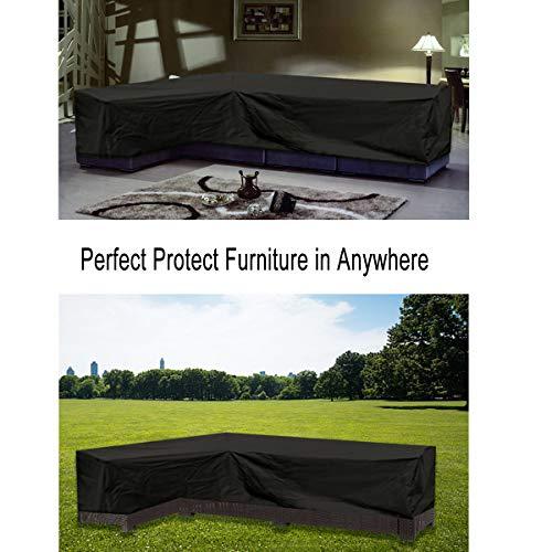 ESSORT L-Form Abdeckung für Gartenmöbel , L Form Schutzhülle Wasserdicht Sofa Abdeckung Schutz vor Staub und verlängert die Lebensdauer von Möbeln - 8
