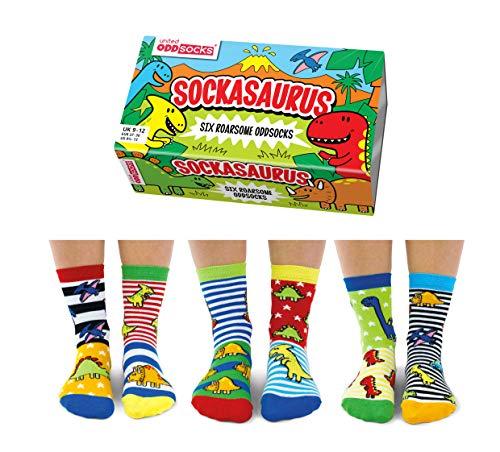 Sockasaurus Oddsocks für Jungen, 27-30 EU, 6 Stück