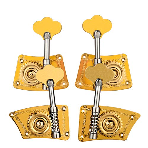 Kontrabass Single Tuning Pegs Tuner Maschinenköpfe 2 Links 2 Rechts für 4/4 3/4 Kontrabass