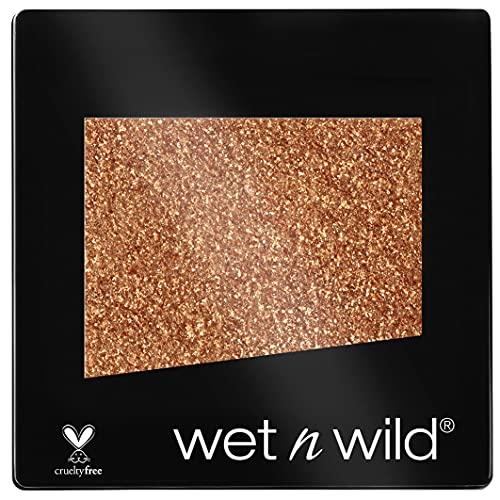 Wet n Wild - Color Icon Eyeshadow Glitter Single - Ombretto Glitter Brillante Singolo Ottone - Super Pigmentato, con Formula Idratante e Setosa - Vegan - Brass