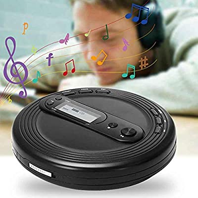 LZDseller01 Portable CD Player with Anti-Skip Protection, FM Radio and Stereo Earbuds,USB interface