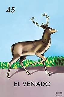 45 El Venado Deer Loteria Card Mexican Bingo Lottery Cool Wall Decor Art Print Poster 12x18
