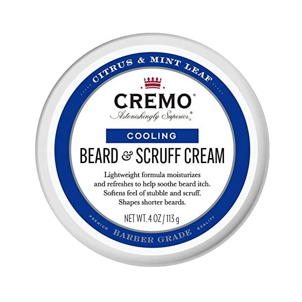 Cremo Citrus Mint Leaf Cooling Beard and Scruff Cream, Moisturizes, Styles and Reduces Beard Itch for All Lengths of… 1