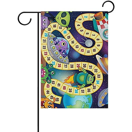 G.H.Y Universe Game Theme Doppelseitig Bedruckte Gartenhaus-Sportfahne - 12 x 18 dekorative Polyesterfahnen