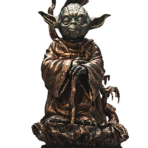 Star Wars Yoda Bronze - Colored Resin Lamp with Quote on Lamp Shade by The Bradford Exchange
