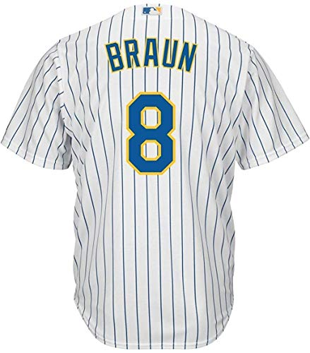 Ryan Braun Milwaukee Brewers White Youth 8-20 Cool Base Alternate Jersey (Medium 10/12)