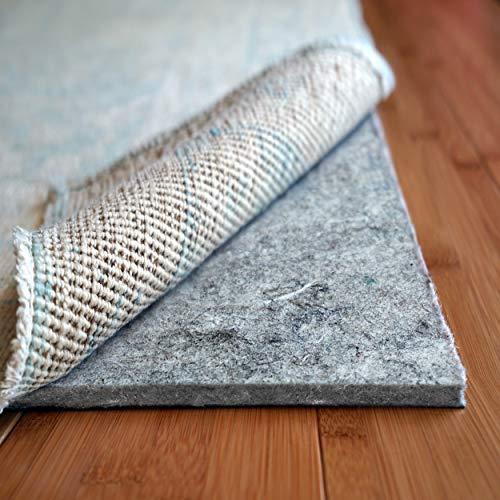 "Rug Pad USA, 1/4"" Thick, Felt and Rubber, 3'x5', Superior Lock- Premium Non Slip Rug Padding for Hardwood Floors"