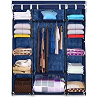 IKAYAA Portable Fabric Closet Wardrobe w/ Cover