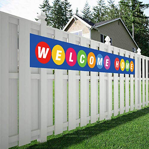 Maplelon Large Welcome Home Banner, Colorful Homecoming Sign, Deployment Return Party Decoration