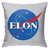 WH-CLA Pillow Cover Elon Musk NASA Logo Anime Regalo Funda De Almohada Funda De Almohada Cremallera Invisible Funda De Cojín Decorativa para El Hogar Fundas De Almohada 45X45 Cm Funda De