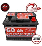 SPEED, BATTERIA PER AUTO L260, 60 AH, 540A, CON POLO POSITIVO A DESTRA SPEED BY SMC...
