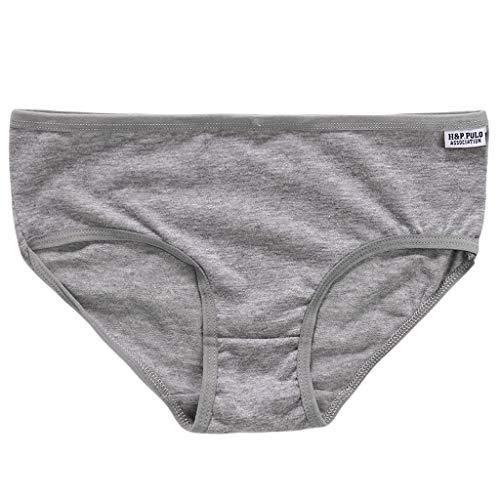 GHBOTTOM Bragas para mujer, ropa interior de algodón sólido calzoncillos transpirables talla L