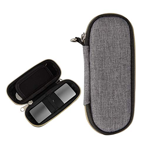 CoBak Carrying Case for AliveCor KardiaMobile 6L - Travel Case Fits in Pocket for AliveCor, Features Zipper Storage Case to Keep Kardia EKG Monitor Safe On The Go, Gray