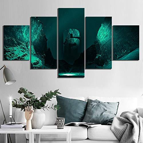 BOYH 5 Panel Drucke auf Leinwand Tom Clancy's Rainbow Six Siege Poster Giclee HD-Wand Kunst Modern Drucken Wohnzimmer Hauptdekorationen,A,30×40×2+30×60×2+30×80×1