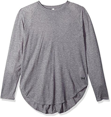 Under Armour Camiseta de manga larga Supreme para mujer - 1290466, XS, Carbon Heather (090)/Tonal