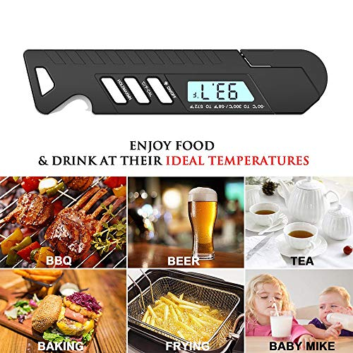 eiAmz Thermometer Kitchen, Digital Instant Read Thermometer with Backlight LCD & Calibration, IP67 Waterproof Cooking Thermometer, Auto-Off Meat Thermometer, Food, Outdoor Cooking, BBQ, and Grill