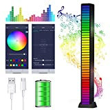 Smart LED Light Bars, 40 Bit LED Sound Control Pickup Rhythm Lights, RGB Music Level Lights Voice Control Audio Colorful Sound Activated Light Bars Built-in Battary for Car, DJ, PC, TV, Gaming Room