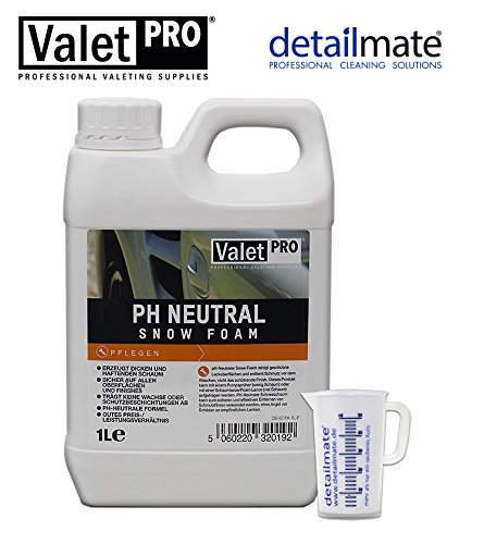 detailmate ValetPRO ph Neutral Snow Foam 1 Liter ohne Foamer Messbecher 50ml
