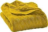 Disana Manta para bebé, 80 x 100 cm, hecha de lana virgen de merino amarillo...