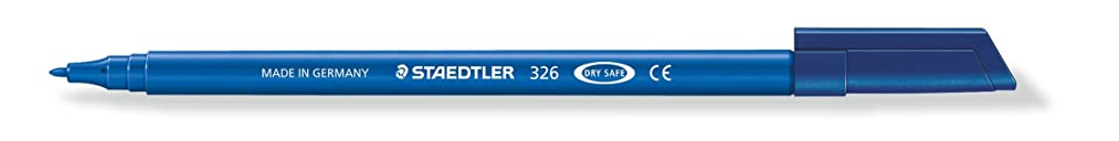 Staedtler 326-30 Noris Club Felt tip pens, Approx. 1.0 mm, Washable, 10?Items in Cardboard Pack, Light Blue