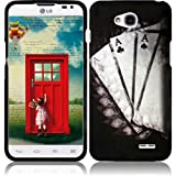 eFashion Quality Hard Protector Case Cover for LG Realm L70 / Exceed 2 / Ultimate 2 L41C ClassicRoyalAceDesign also included Elegant Fashion Gift Bag