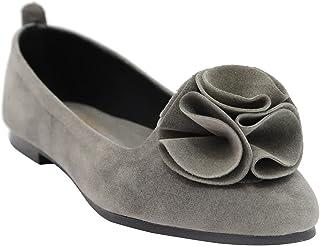 حذاء مسطح قماشي بطرف مدبب وعقدة امامية للنساء من جليتر