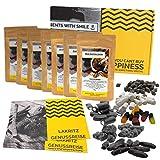 Lakritz Geschenk Set 7x60g | Geschenkidee für Lakritzliebhaber I echte Lakritze im Präsentkorb I...