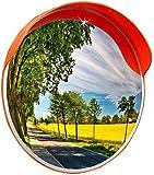 MIRROR Weitwinkelobjektiv für den Straßenverkehr, Sicherheitsspiegel , Weitwinkelobjektiv für Sonnenschutz/Regenschutz, Acryl-Weitwinkelobjektiv Konvexer Diebstahlschutz , Runder Supermarktspiegel