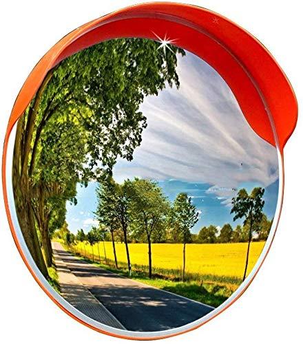 HQY Outdoor Traffic Hoeklens, Veiligheidsspiegel Oranje Convex Panoramische Spiegel, Hd Grote Kijkhoek, Blinde Zone Verkeersspiegel, Outdoor Observatie Spiegel, Ronde Weg Spiegel 120cm