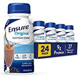 Ensure Original Nutrition Shake, Small Meal Replacement Shake, Complete, Balanced Nutrition with Nutrients to Support Immune System Health, Coffee Latte, 8 fl oz, 24 Count