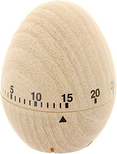 MIK Funshopping Zeitmesser Kurzzeitmesser Küchentimer Eieruhr bis 60 Minuten 6 x 7,8 cm (Holzmaserung)