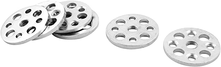 uxcell Metal Home Round Cabinet Table Sofa Furniture Legs Attachment Mounting Plates 6pcs