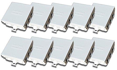 Verbindingsdoos verdeeldoos 85 x 85 x 37 mm IP55 vochtige ruimte 20 Stück FR-Abzweigdose leer