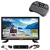 ANTARION Pack TV LED 22' 55cm Téléviseur HD Connecté 12V + Clavier Ergonomique