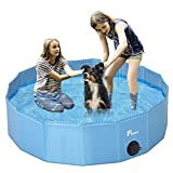 Pidsen Upgraded Foldable Pet Swimming Pool Portable Dog Pool Kids Pets Dogs Cats Outdoor Bathing Tub Bathtub Water Pond Pool & Kiddie Pools ((80 x 20cm) 31.5''.D7.87''.H, Light Blue)