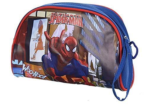 Trousse Scolaire fourre Tout Enfant garçon Spiderman Rouge et Bleu 22 x 14 x 7cm (Bleu)
