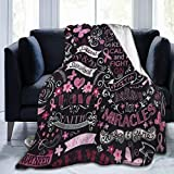 Blanket Breast Cancer Awareness Hopes Throw Blanket Ultra Soft Velvet Blanket Lightweight Bed Blanket Quilt Durable Home Decor Fleece Blanket Sofa Blanket Luxurious Carpet for Men Women Kids