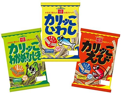 いちまさ カリッこ 3種 スナック 詰め合わせセット 12袋(いわし・えび・わかめ&ひじき各4袋) 栄養機能食品(カルシウム)