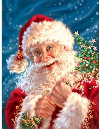 Alicest 5d DIY Diamond Painting Kits Full Diamond Art Kits Adults Large Size Cross Stitch Santa Claus Mosaic Crystal Rhinestones Pictures Numbers for Home Decor 40X50Cm(16X20 Inch)