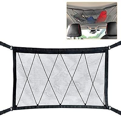 Amazon - Save 30%: WETDCQ Car Ceiling Cargo Net Pocket – Car Roof Adjustable Interior Cargo…