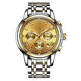 LIGE Reloj Hombres Negocio Clásico Impermeable Deportes Analógico Cuarzo Relojes Cronógrafo Reloj de Pulsera de Acero Inoxidable