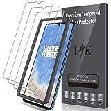 LK Compatible con OnePlus 7T Protector de Pantalla,3 Pack,9H Dureza Cristal Templado, Equipado con Marco de Posicionamiento,Vidrio Templado Screen Protector