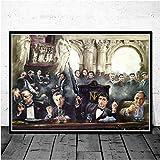 WYBFLF Leinwand Poster Pate Scarface Sopranos Filmplakate