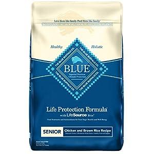 Blue Buffalo Life Protection Formula Natural Senior Dry Dog Food, Chicken and Brown Rice 30-Lb